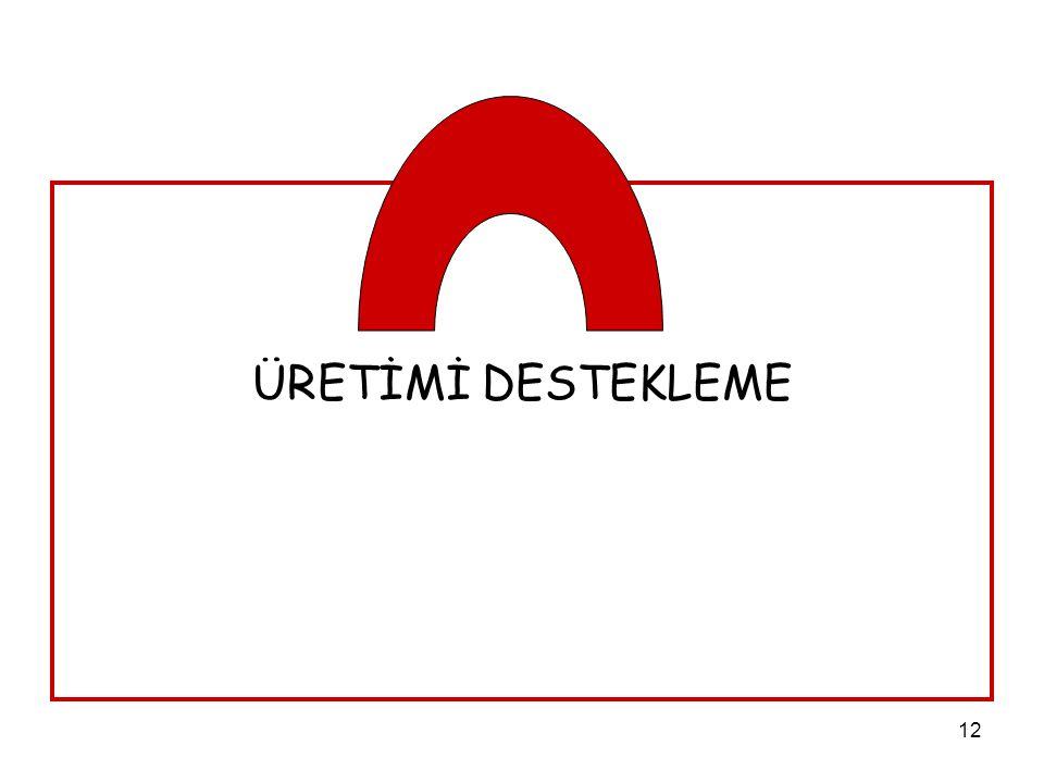 ÜRETİMİ DESTEKLEME