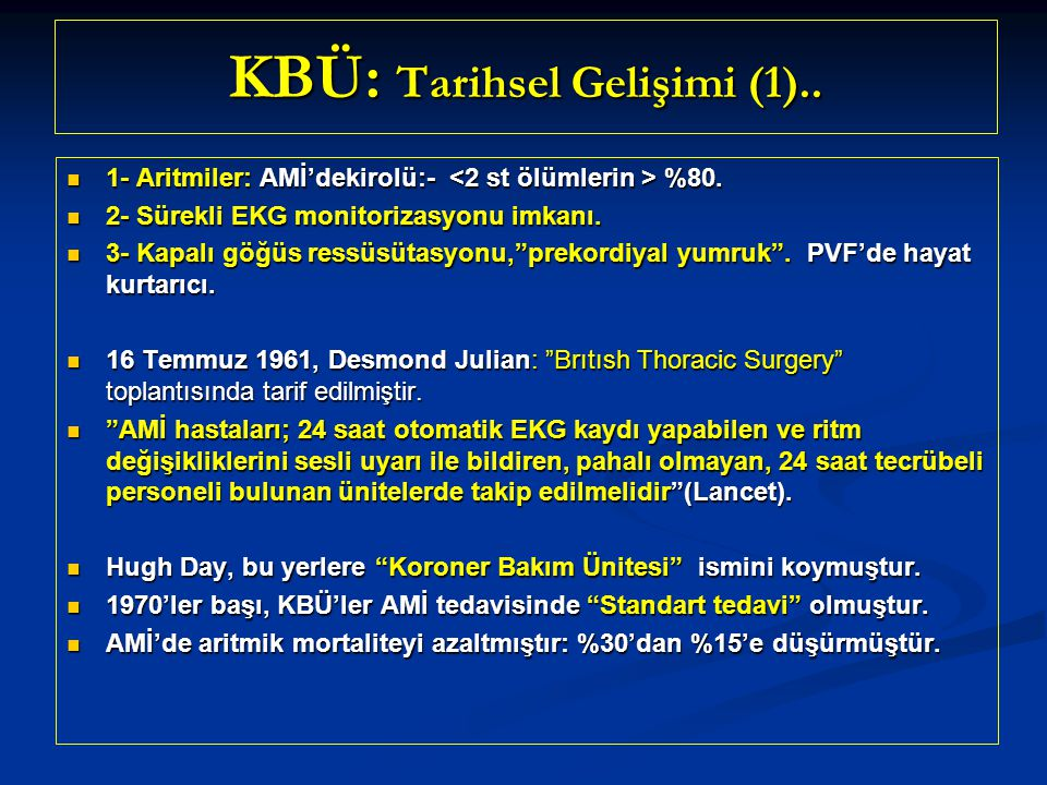 KBÜ: Tarihsel Gelişimi (1)..