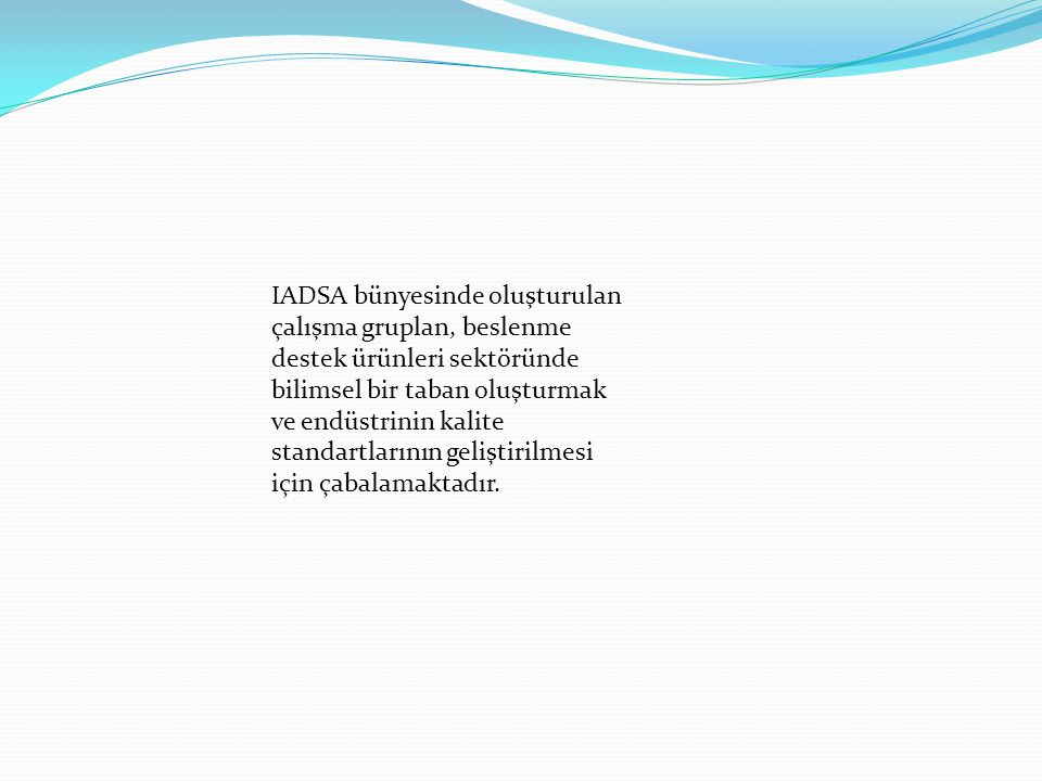 IADSA bünyesinde oluşturulan