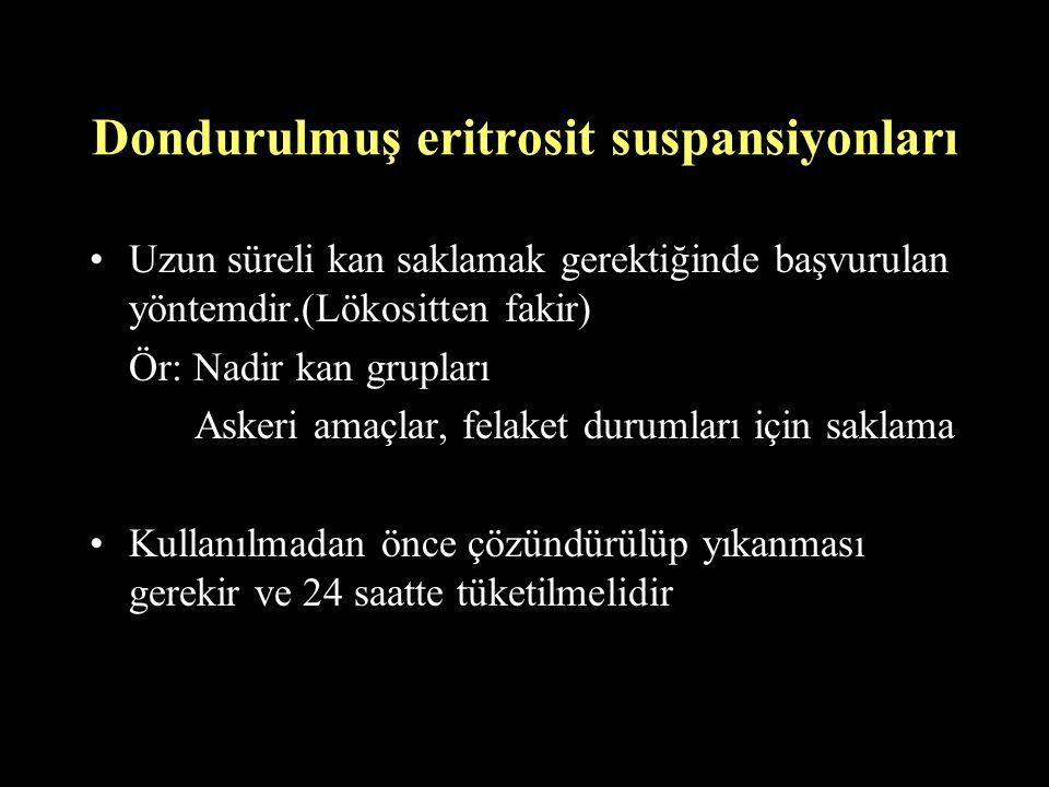 Dondurulmuş eritrosit suspansiyonları