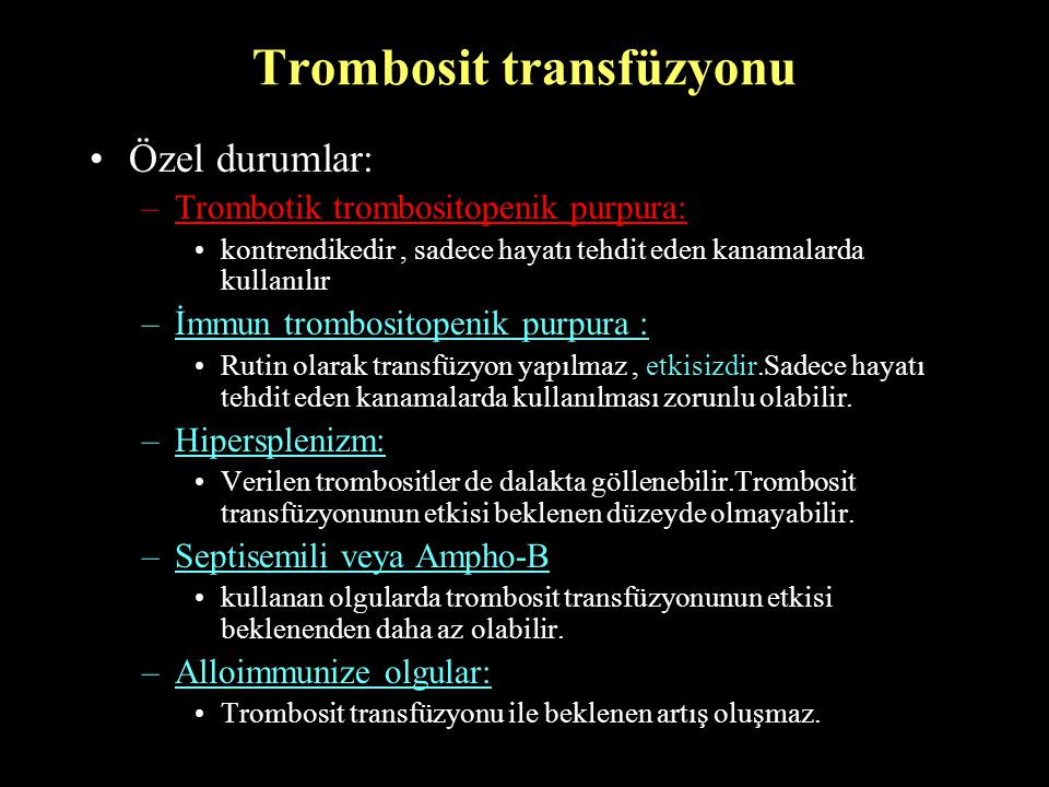 Trombosit transfüzyonu
