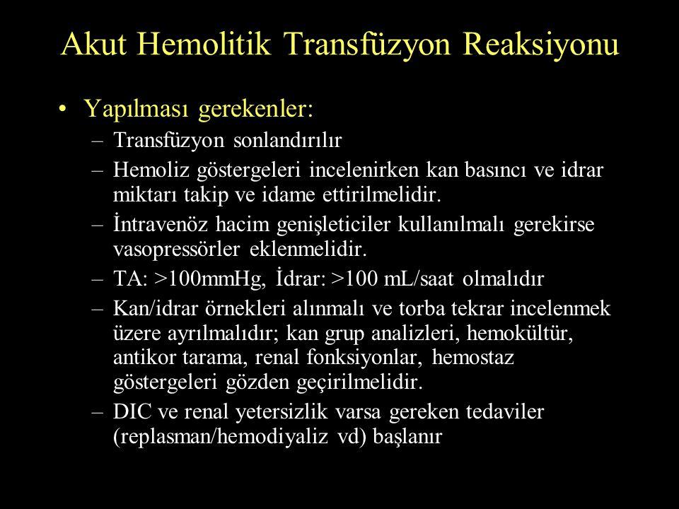 Akut Hemolitik Transfüzyon Reaksiyonu