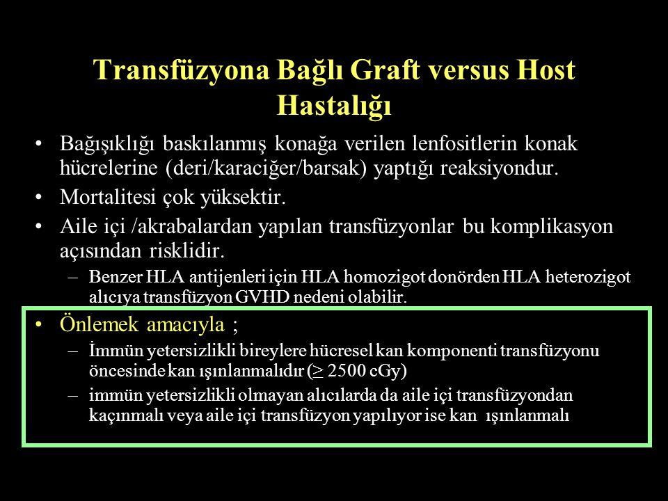 Transfüzyona Bağlı Graft versus Host Hastalığı