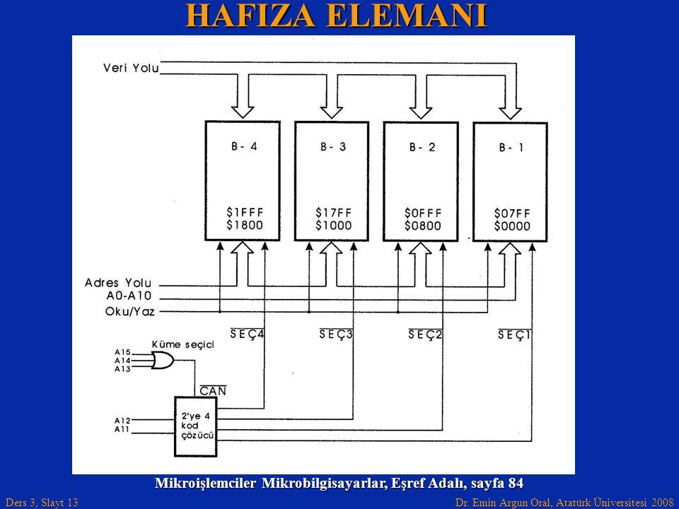 Mikroişlemciler Mikrobilgisayarlar, Eşref Adalı, sayfa 84