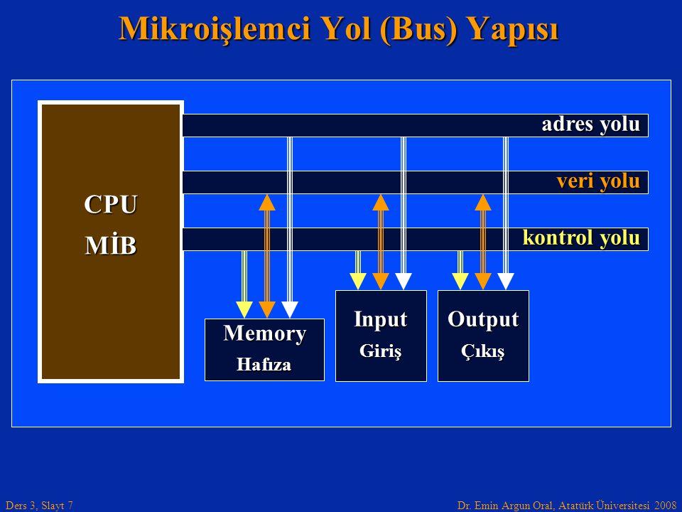 Mikroişlemci Yol (Bus) Yapısı