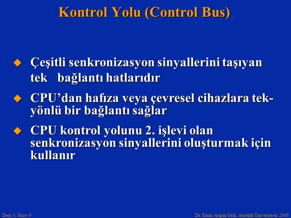 Kontrol Yolu (Control Bus)