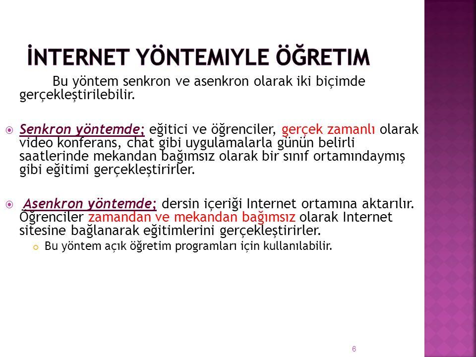 İnternet Yöntemiyle Öğretim
