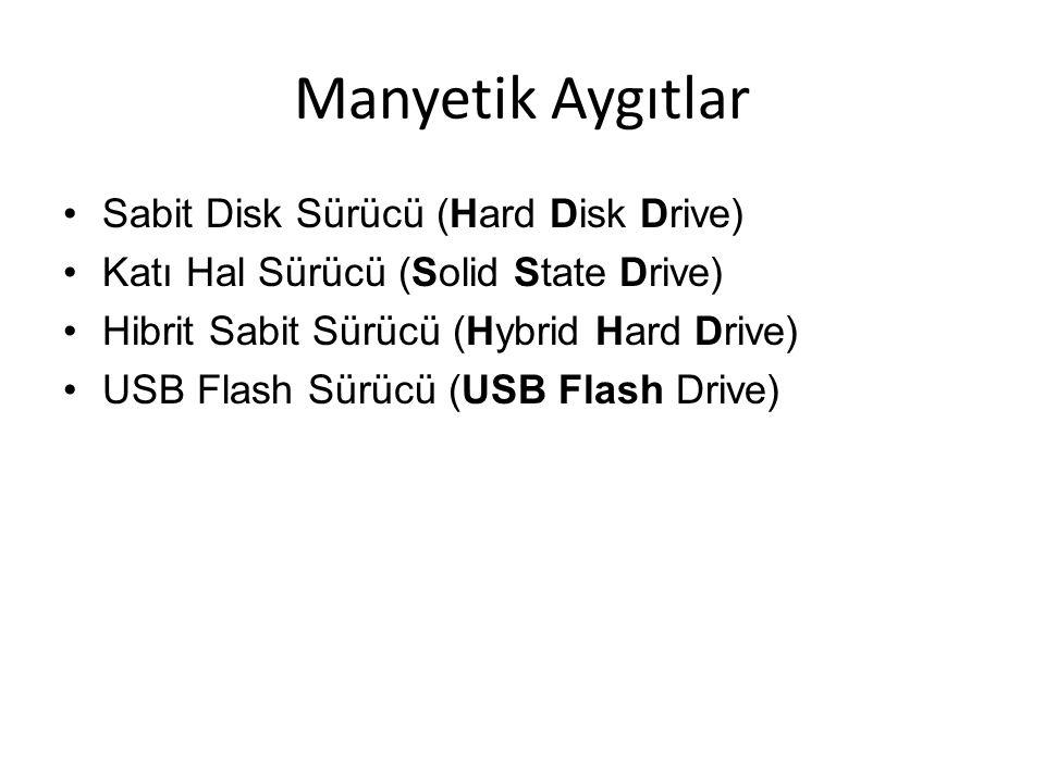 Manyetik Aygıtlar Sabit Disk Sürücü (Hard Disk Drive)