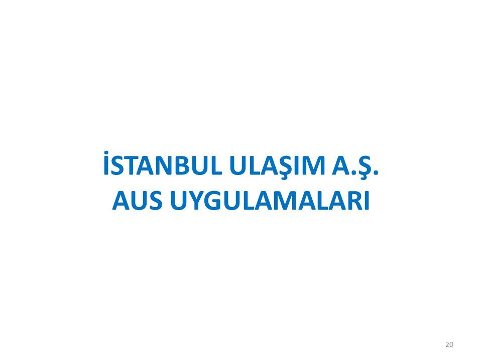 İstanbul UlaşIm A.Ş. AUS UygulamalarI