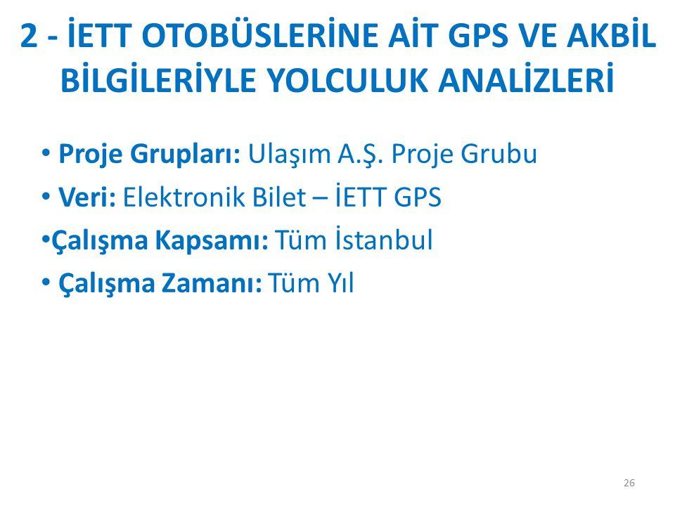 2 - İETT OTOBÜSLERİNE AİT GPS VE AKBİL BİLGİLERİYLE YOLCULUK ANALİZLERİ