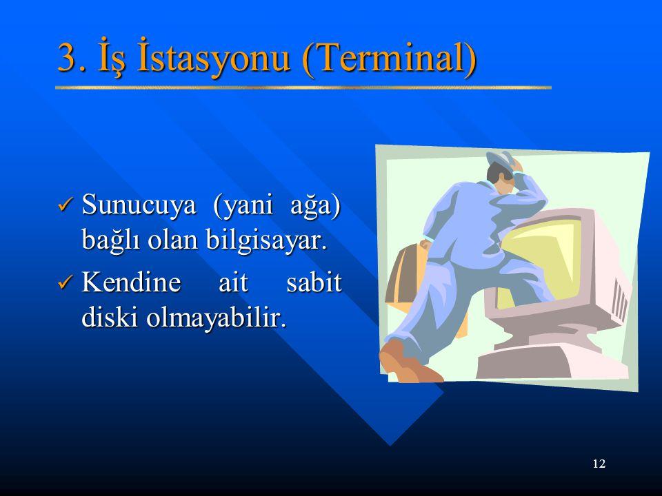 3. İş İstasyonu (Terminal)
