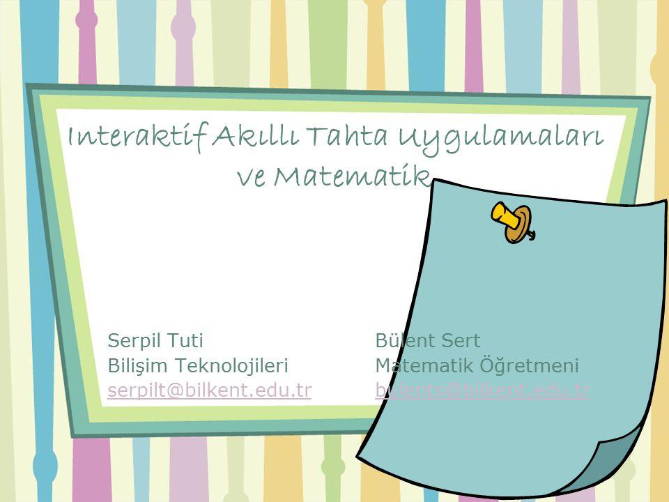 Interaktif Akıllı Tahta Uygulamaları ve Matematik