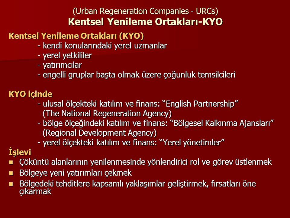 (Urban Regeneration Companies - URCs) Kentsel Yenileme Ortakları-KYO