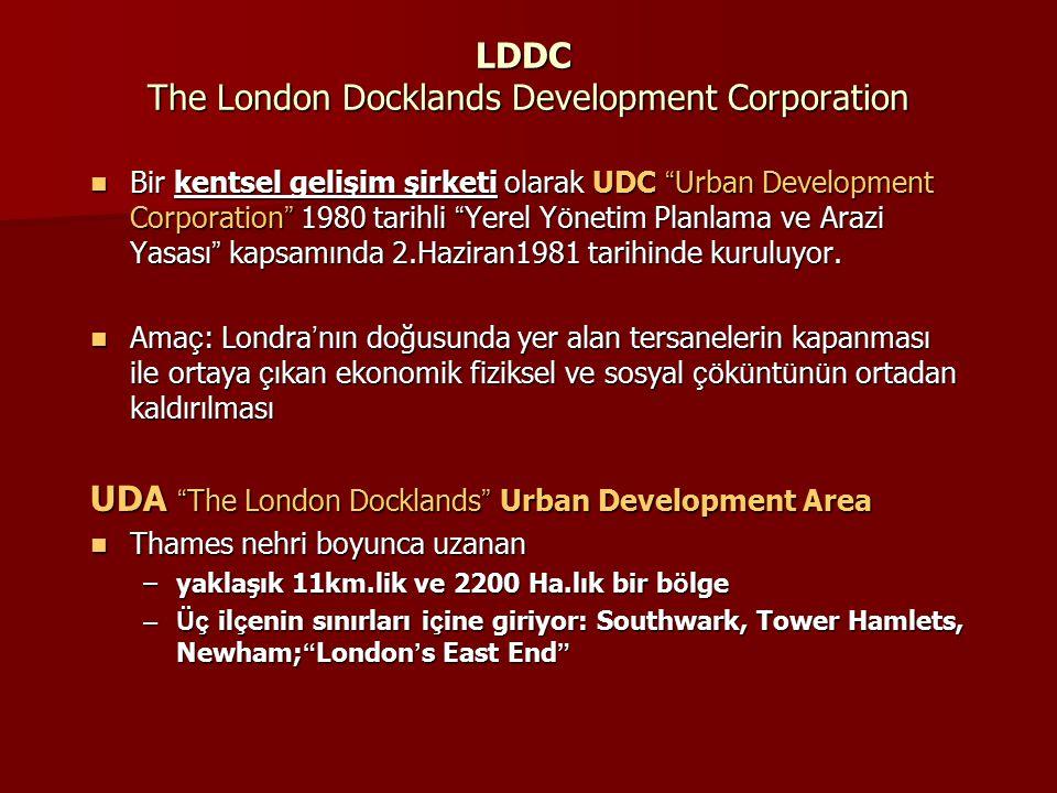 LDDC The London Docklands Development Corporation