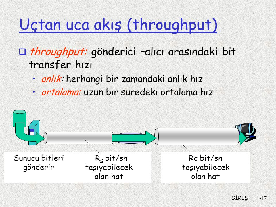 Uçtan uca akış (throughput)
