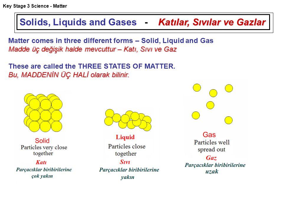 Solids, Liquids and Gases - Katılar, Sıvılar ve Gazlar
