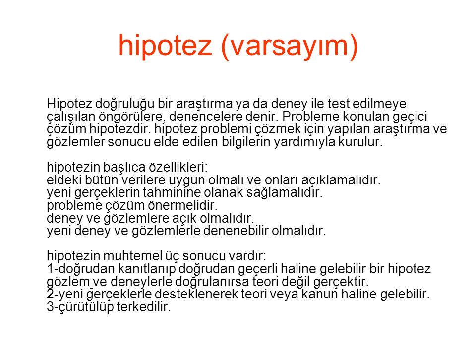 hipotez (varsayım)