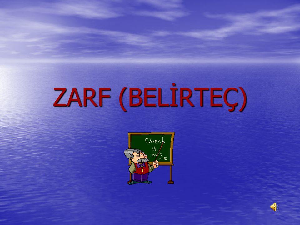ZARF (BELİRTEÇ)