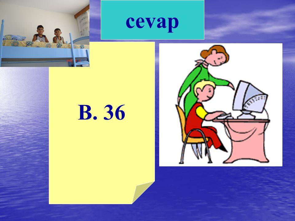 cevap B. 36