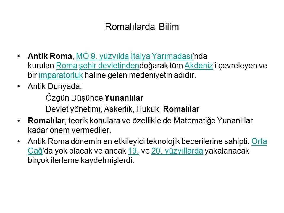 Romalılarda Bilim