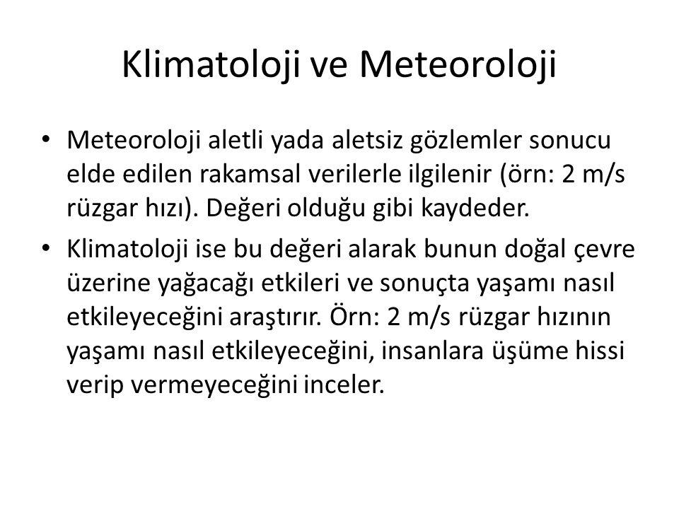 Klimatoloji ve Meteoroloji
