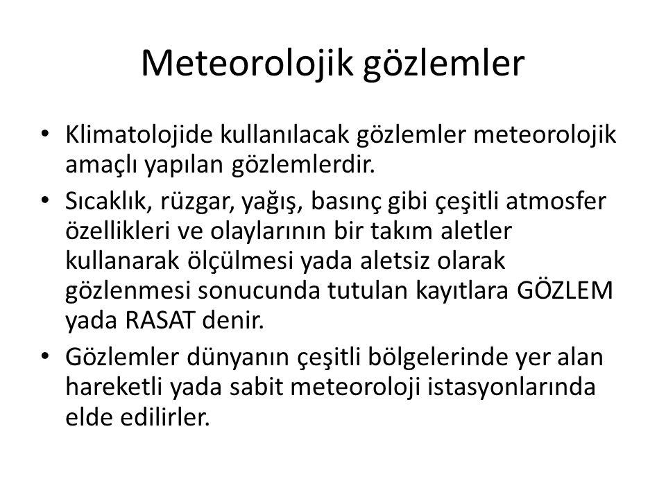 Meteorolojik gözlemler