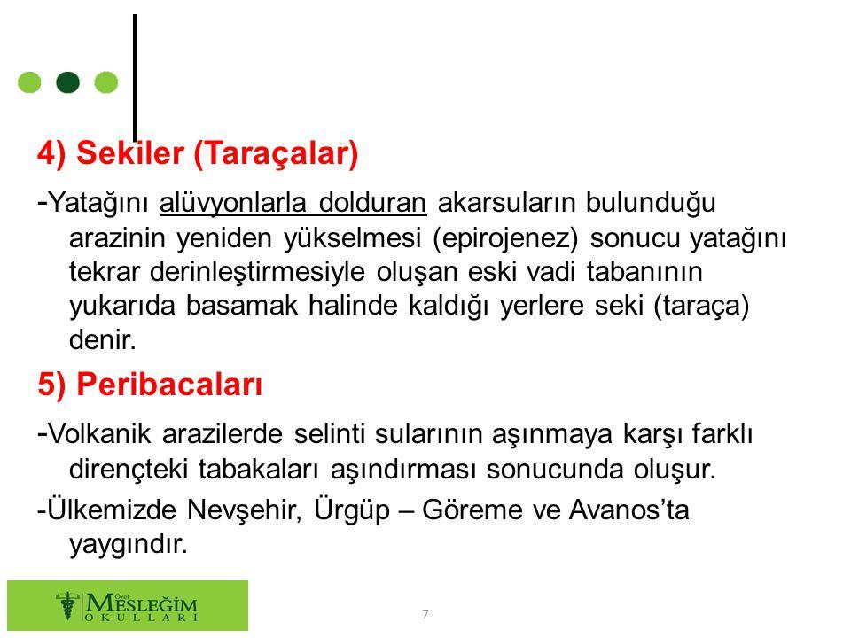 4) Sekiler (Taraçalar)