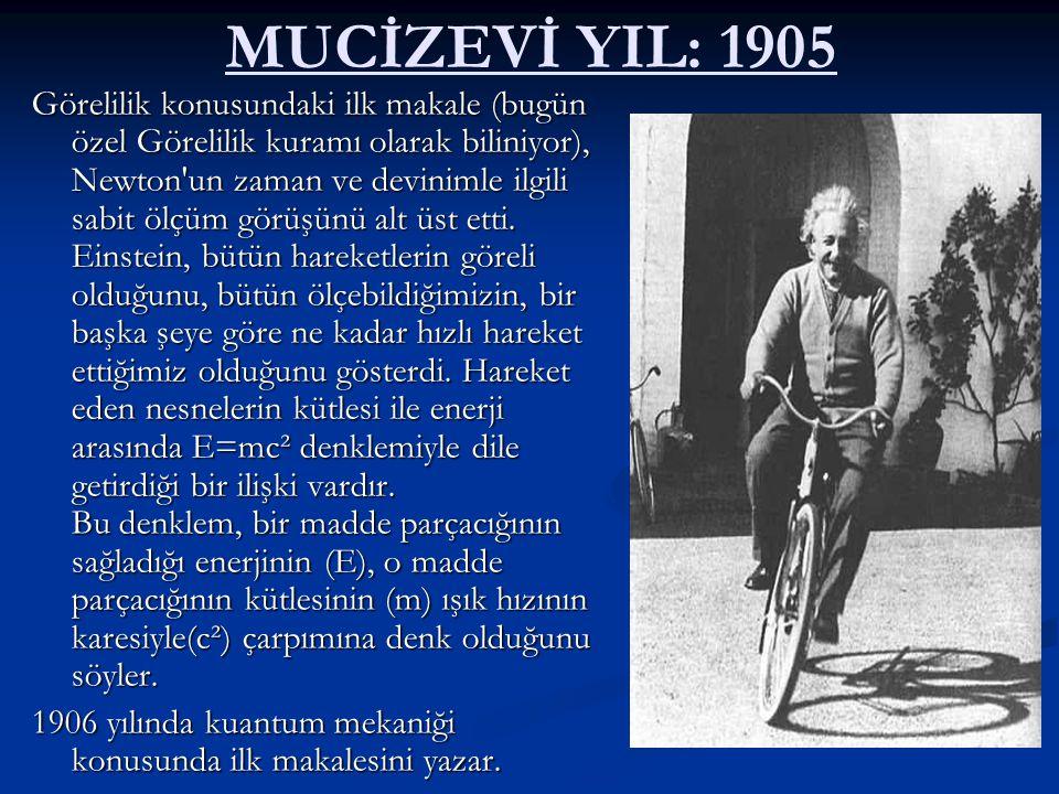 MUCİZEVİ YIL: 1905