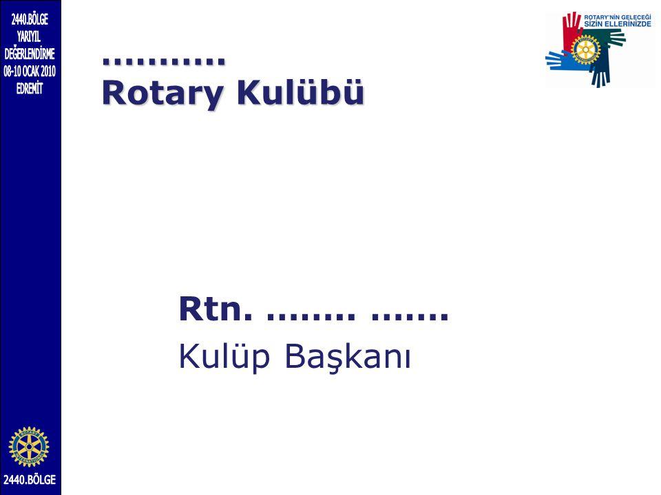 ……….. Rotary Kulübü Rtn. …….. ……. Kulüp Başkanı