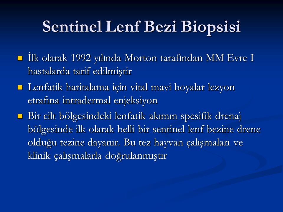 Sentinel Lenf Bezi Biopsisi