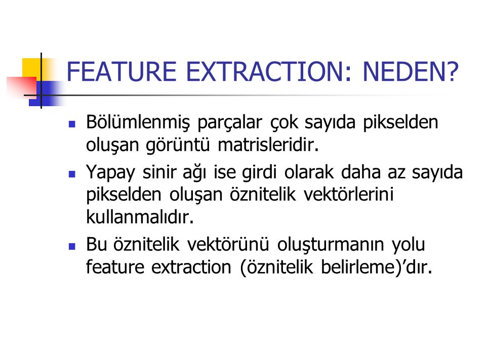 FEATURE EXTRACTION: NEDEN