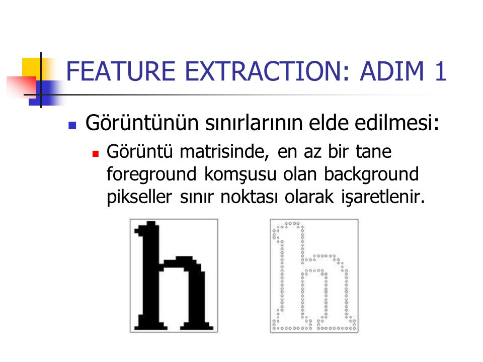 FEATURE EXTRACTION: ADIM 1