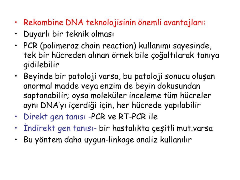 Rekombine DNA teknolojisinin önemli avantajları: