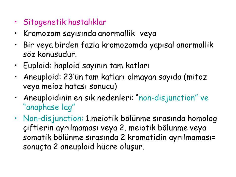 Sitogenetik hastalıklar