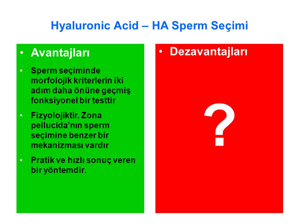 Hyaluronic Acid – HA Sperm Seçimi