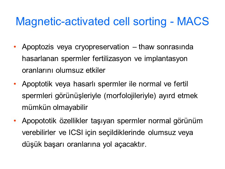 Magnetic-activated cell sorting - MACS