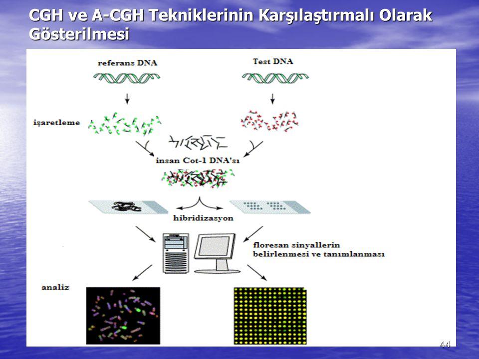 CGH ve A-CGH Tekniklerinin Karşılaştırmalı Olarak Gösterilmesi