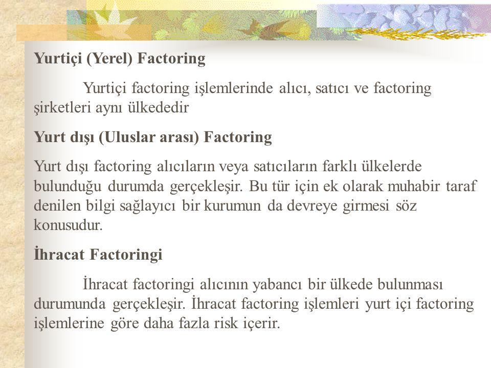 Yurtiçi (Yerel) Factoring