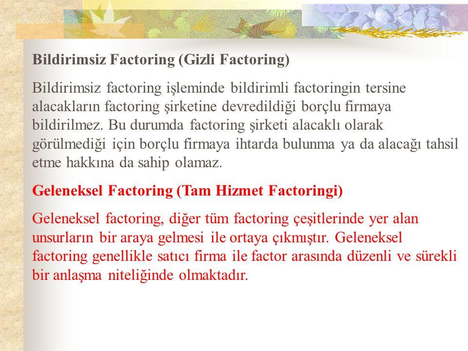 Bildirimsiz Factoring (Gizli Factoring)