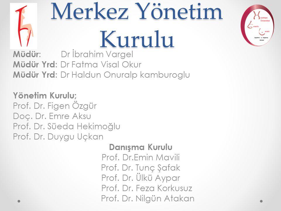 Merkez Yönetim Kurulu Müdür: Dr İbrahim Vargel