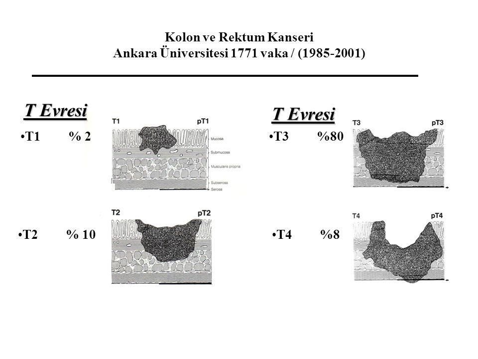 Kolon ve Rektum Kanseri Ankara Üniversitesi 1771 vaka / (1985-2001)