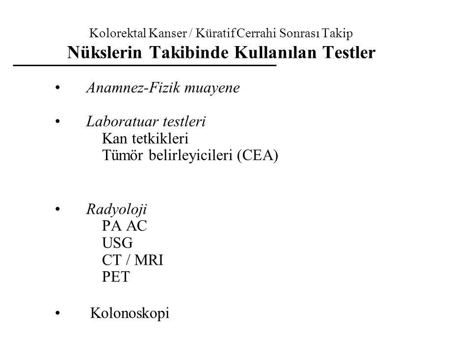 Anamnez-Fizik muayene Laboratuar testleri Kan tetkikleri