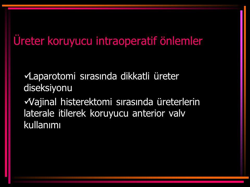 Üreter koruyucu intraoperatif önlemler