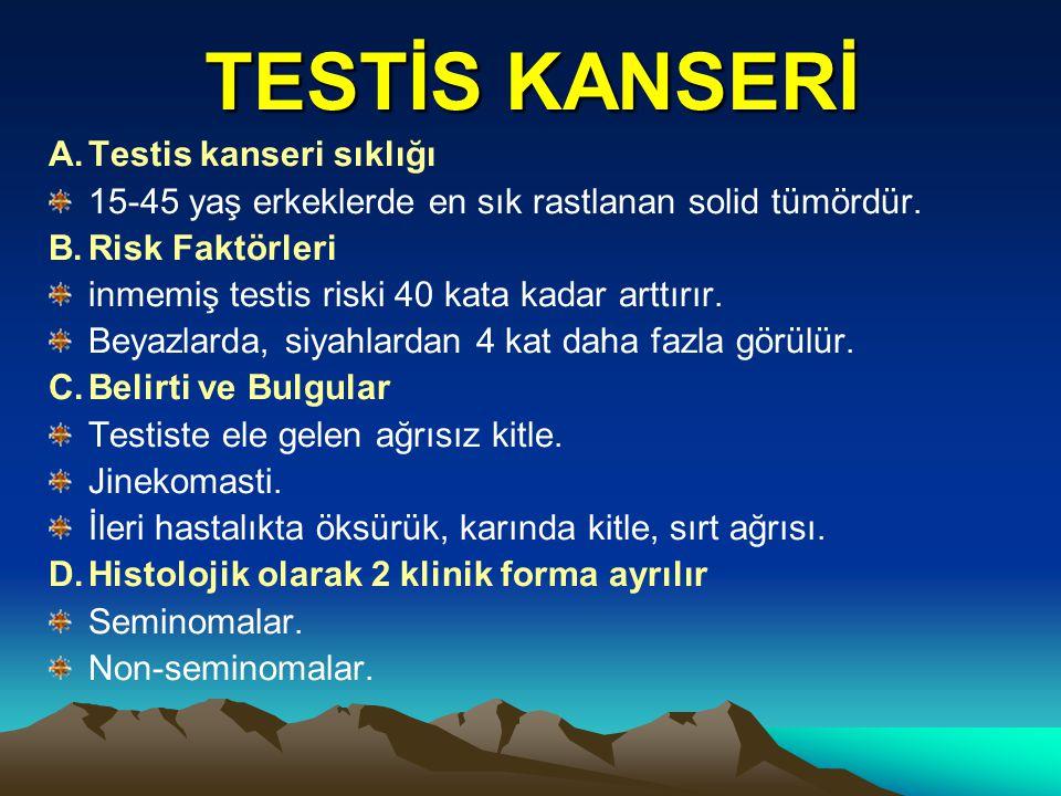 TESTİS KANSERİ A. Testis kanseri sıklığı