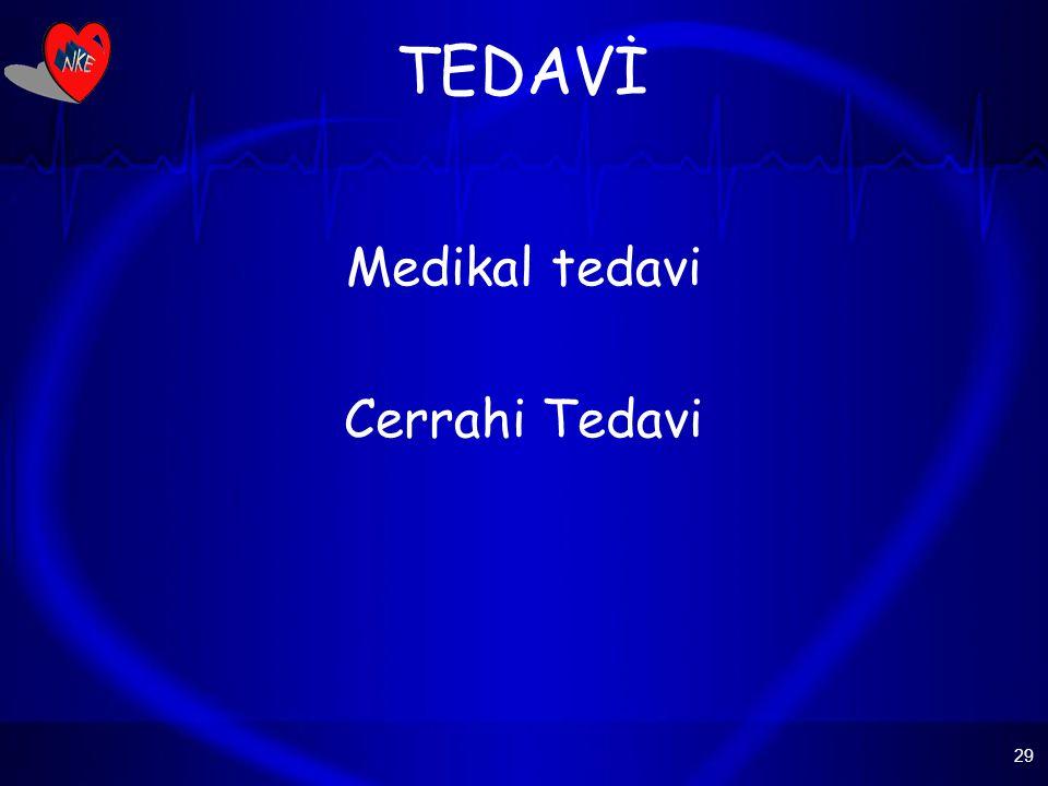 TEDAVİ Medikal tedavi Cerrahi Tedavi