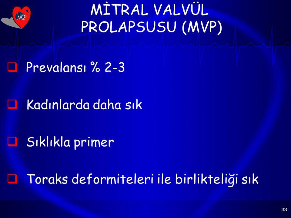 MİTRAL VALVÜL PROLAPSUSU (MVP)