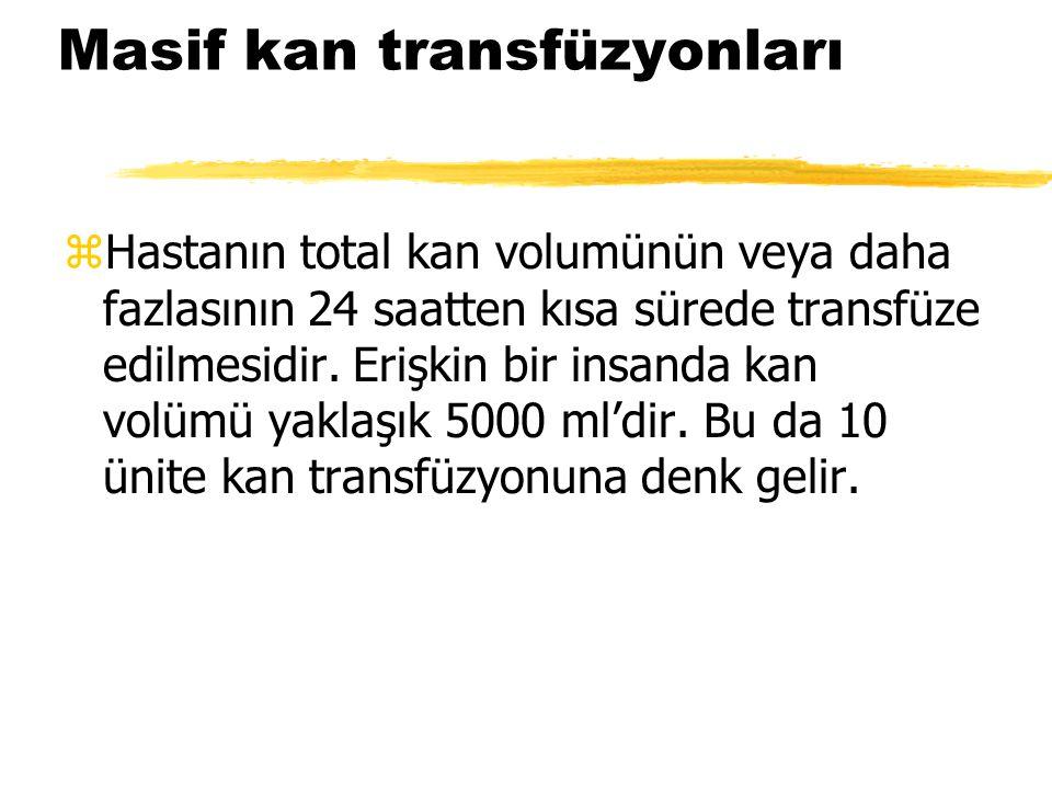 Masif kan transfüzyonları