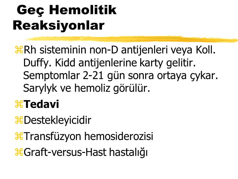 Geç Hemolitik Reaksiyonlar
