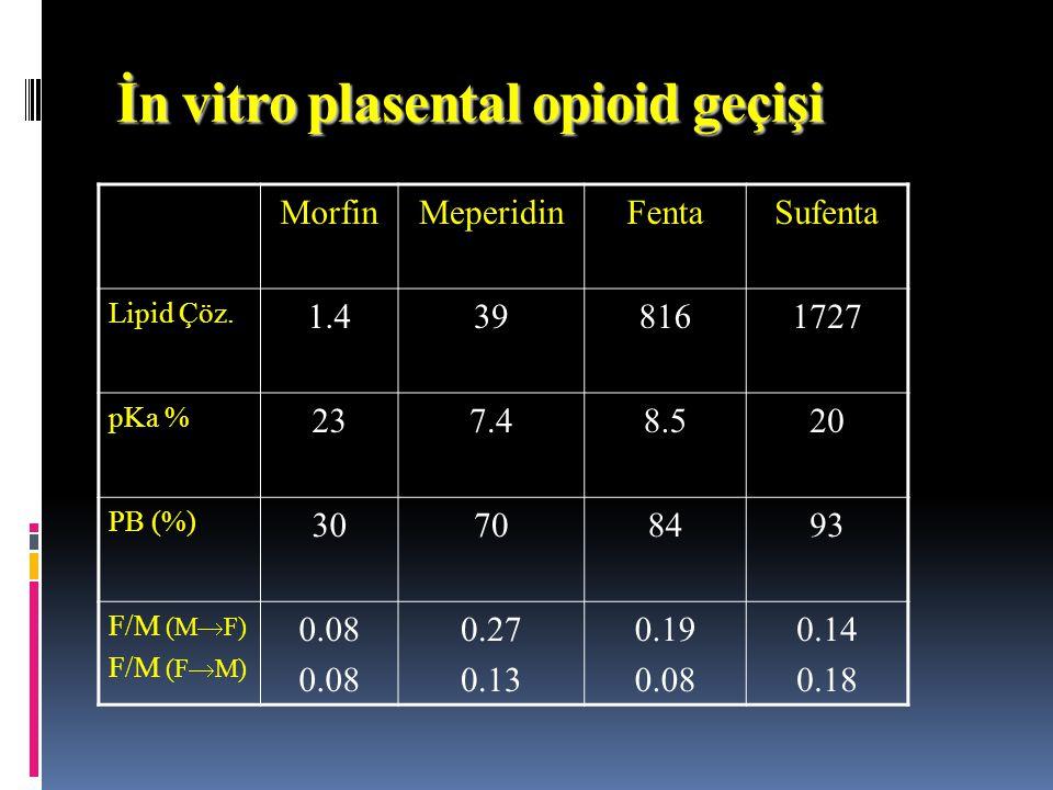 İn vitro plasental opioid geçişi