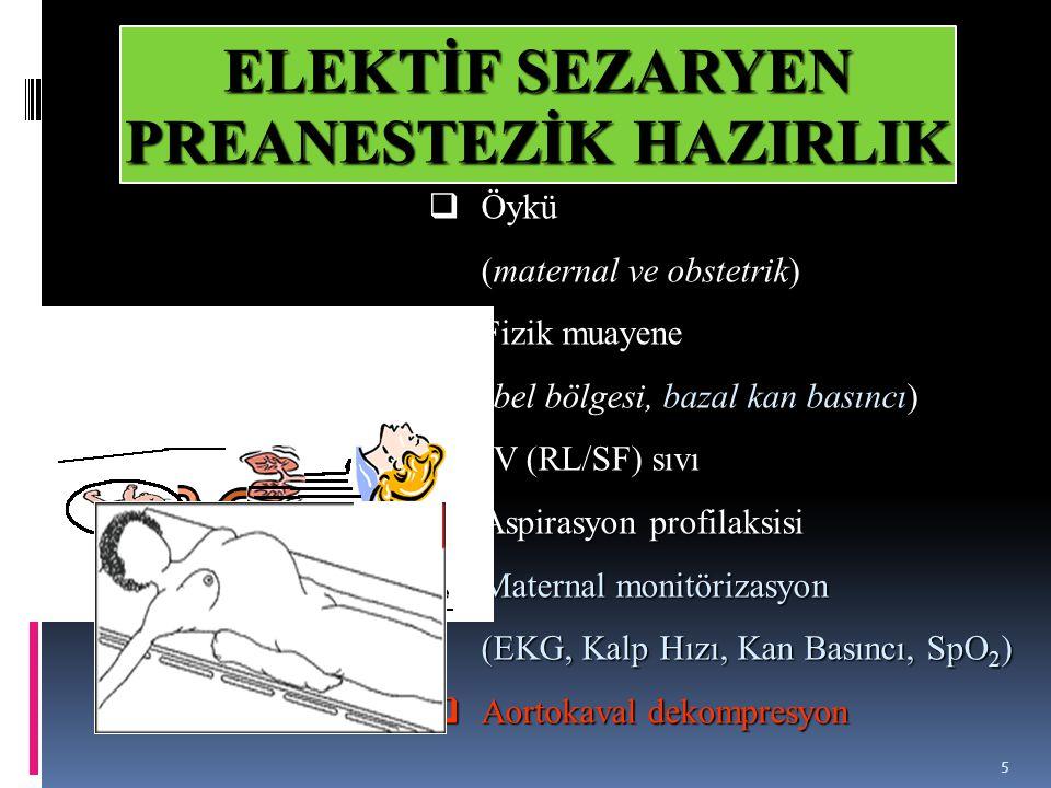ELEKTİF SEZARYEN PREANESTEZİK HAZIRLIK